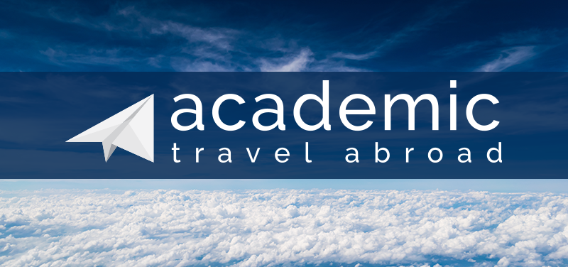 ATA logo on top of image of clouds in sky